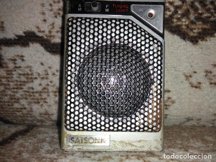 Radios antiguas: TRANSISTOR RADIO SATSONIC vintage - Foto 5 - 154006654