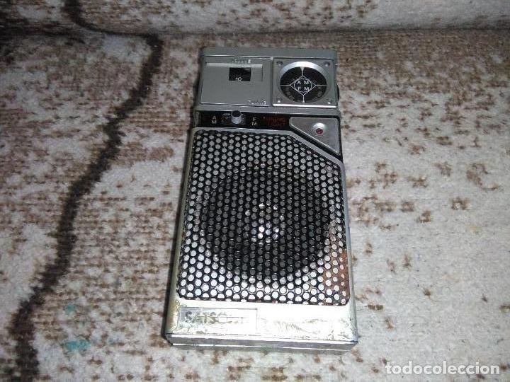 Radios antiguas: TRANSISTOR RADIO SATSONIC vintage - Foto 11 - 154006654