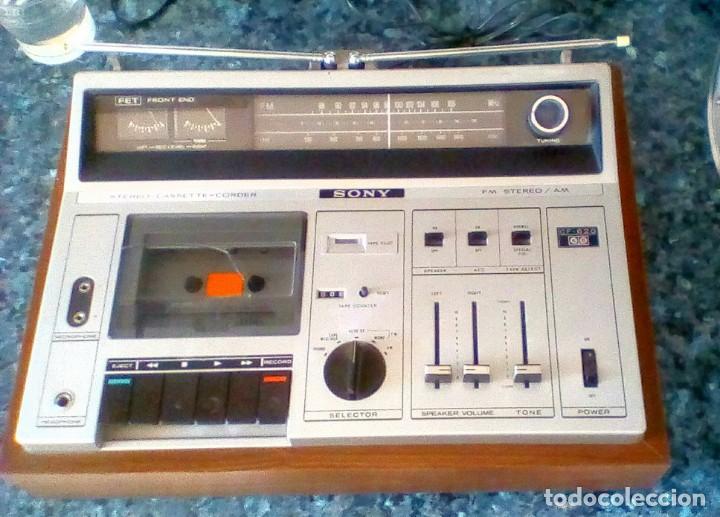 Radios antiguas: Radio Amplificador Pletina casset caset Sony - Foto 2 - 155196862