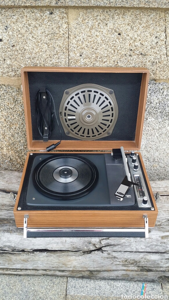 Radios antiguas: Tocadiscos de maleta pick up Iberia - Foto 7 - 155220094
