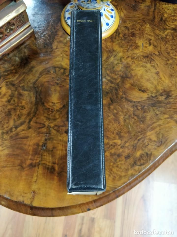 Radios antiguas: Phono Radio, radio y tocadiscos portable 2 en 1, con forma de libro - Foto 2 - 155232474