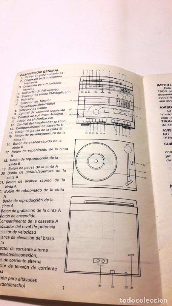 Radios antiguas: EQUIPO DE MÚSICA MARCA INTRON - AÑOS 70-80 - Foto 10 - 155235602