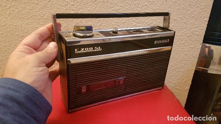 ANTIGUA RADIO CASSETTE TRANSISTOR GRUNDIG C 2OO SL AUTOMATIC DISEÑO VINTAGE C200 (Radios, Gramófonos, Grabadoras y Otros - Transistores, Pick-ups y Otros)
