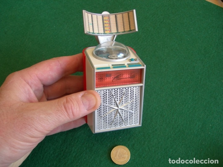 CAJA MUSICAL RADIO IMITACIÓN JUKE BOX (Radios, Gramófonos, Grabadoras y Otros - Transistores, Pick-ups y Otros)