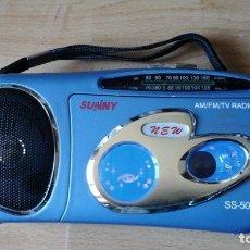 Radios antiguas: PEQUEÑO RADIO CASSETTE SUNNY. Lote 155851138