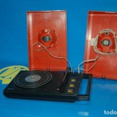 Radios antiguas: MALETA VINTAGE TOCADISCOS PHILIPS STEREO 200 COLOR ROJO AÑO-1975-SIN AGUJA. Lote 155920126