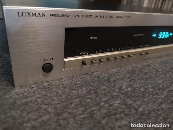 Radios antiguas: Sintonizador AM FM Luxman T-115 metal 1981/1985 - Foto 3 - 155982334