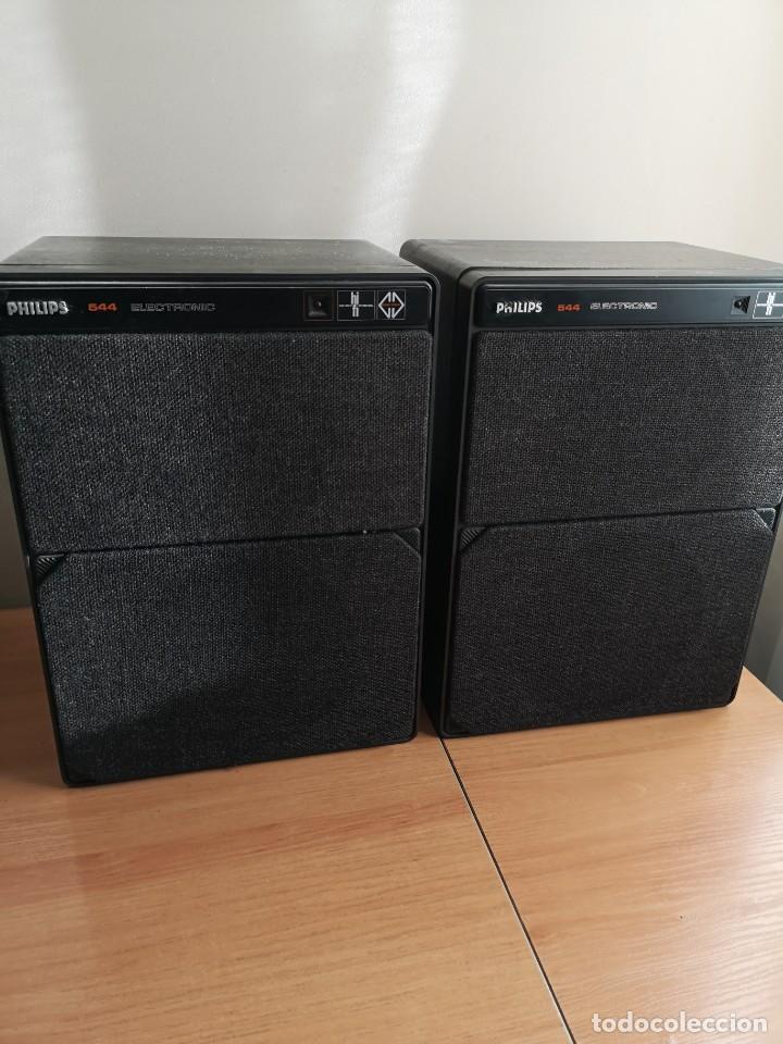 Radios antiguas: altavoces monitores autoamplificados PHILIPS 544 - Foto 2 - 155982814