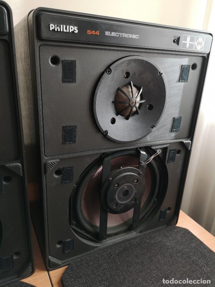 Radios antiguas: altavoces monitores autoamplificados PHILIPS 544 - Foto 4 - 155982814