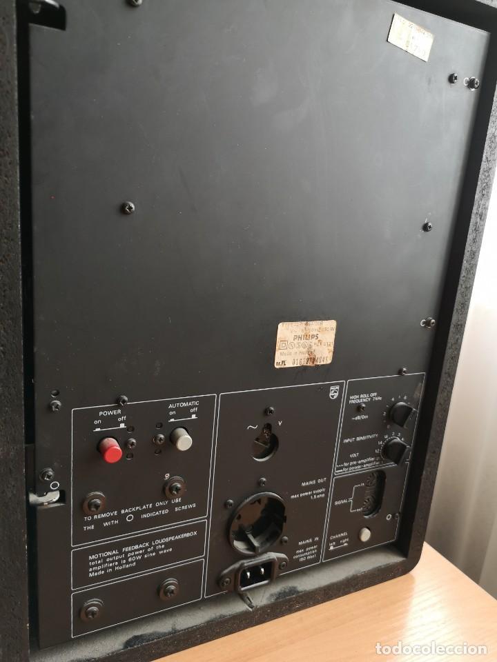 Radios antiguas: altavoces monitores autoamplificados PHILIPS 544 - Foto 6 - 155982814