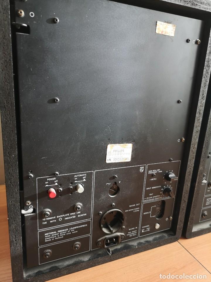 Radios antiguas: altavoces monitores autoamplificados PHILIPS 544 - Foto 7 - 155982814