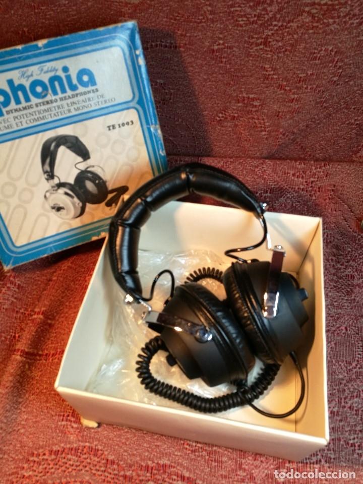 Radios antiguas: ORIGINALES AURICULARES PHONIA MODELO 1093 AÑOS 70 MADE IN FRANCE-NUEVOS SIN USO- STEREO HEADPHONES - Foto 2 - 163824528