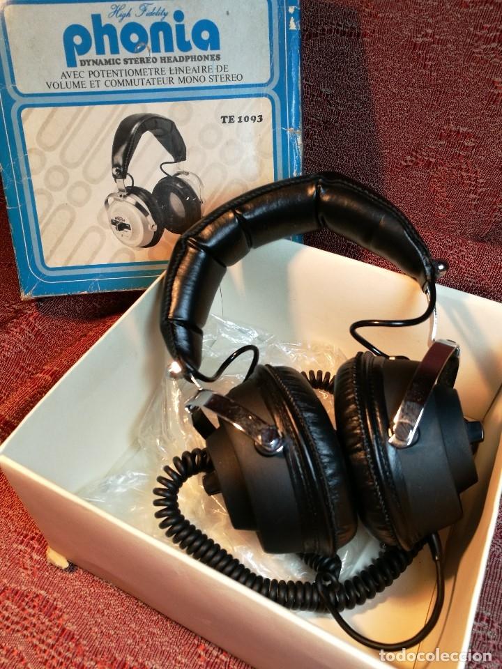 Radios antiguas: ORIGINALES AURICULARES PHONIA MODELO 1093 AÑOS 70 MADE IN FRANCE-NUEVOS SIN USO- STEREO HEADPHONES - Foto 4 - 163824528
