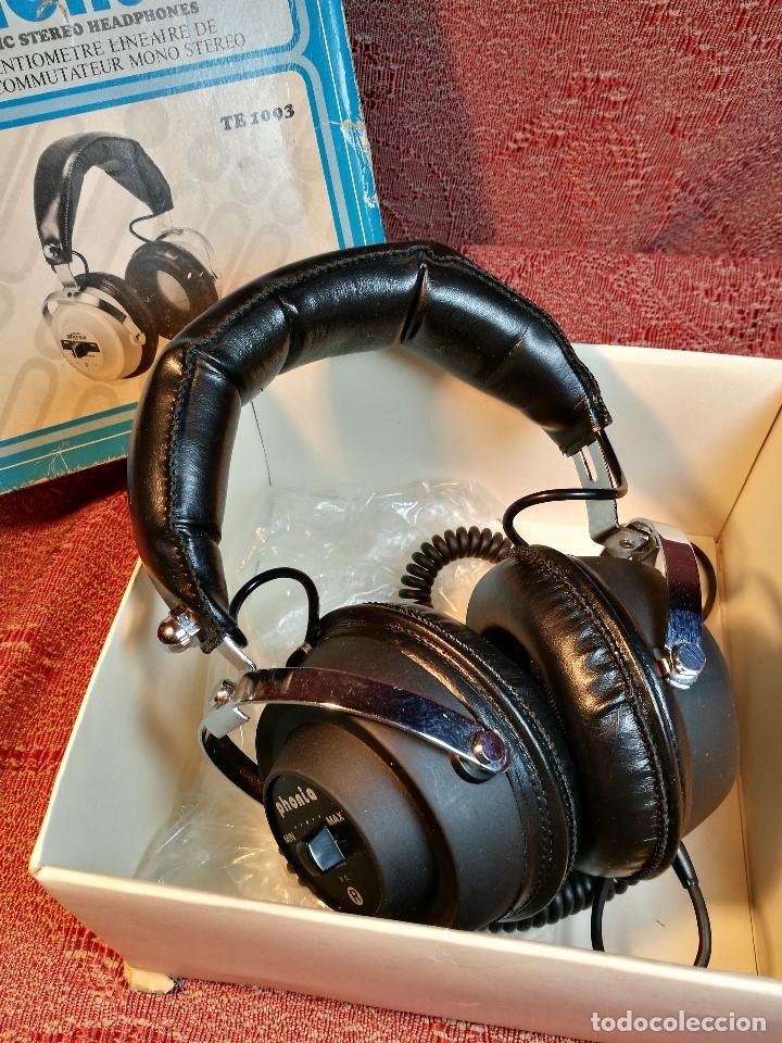 Radios antiguas: ORIGINALES AURICULARES PHONIA MODELO 1093 AÑOS 70 MADE IN FRANCE-NUEVOS SIN USO- STEREO HEADPHONES - Foto 6 - 163824528