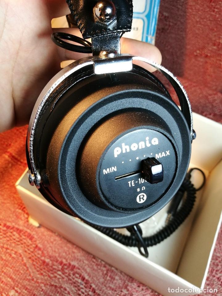 Radios antiguas: ORIGINALES AURICULARES PHONIA MODELO 1093 AÑOS 70 MADE IN FRANCE-NUEVOS SIN USO- STEREO HEADPHONES - Foto 8 - 163824528