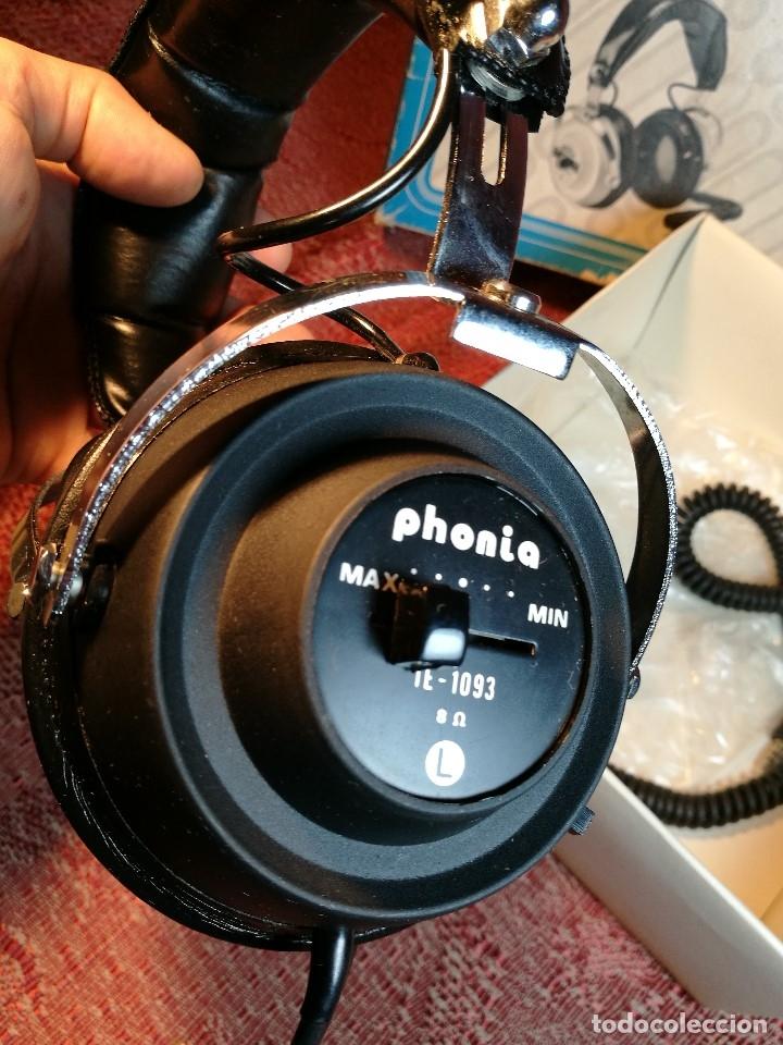 Radios antiguas: ORIGINALES AURICULARES PHONIA MODELO 1093 AÑOS 70 MADE IN FRANCE-NUEVOS SIN USO- STEREO HEADPHONES - Foto 11 - 163824528