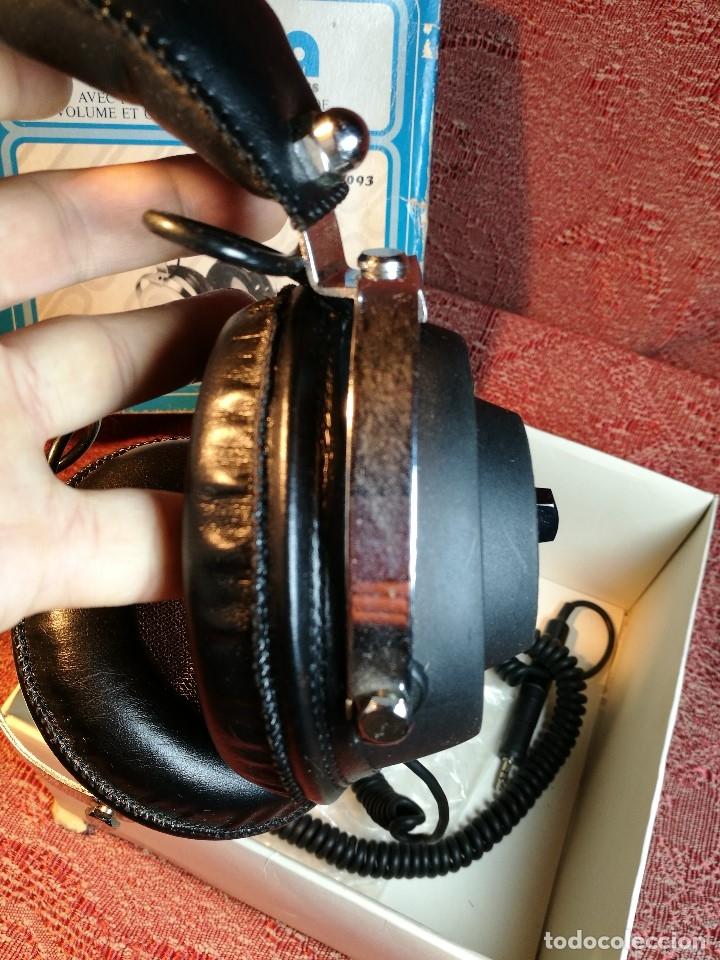 Radios antiguas: ORIGINALES AURICULARES PHONIA MODELO 1093 AÑOS 70 MADE IN FRANCE-NUEVOS SIN USO- STEREO HEADPHONES - Foto 9 - 163824528