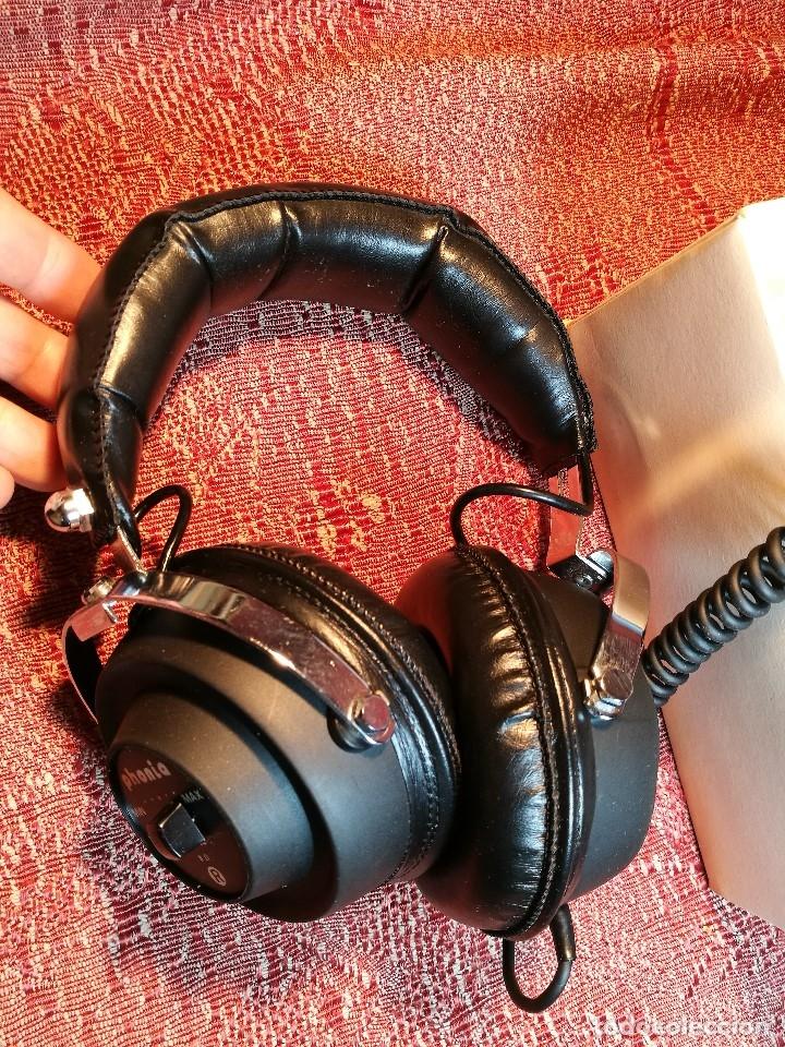 Radios antiguas: ORIGINALES AURICULARES PHONIA MODELO 1093 AÑOS 70 MADE IN FRANCE-NUEVOS SIN USO- STEREO HEADPHONES - Foto 12 - 163824528