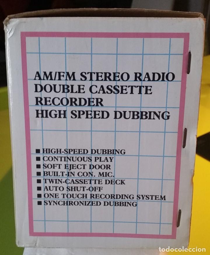 Radios antiguas: RADIO DOUBLE CASSETTE RECORDER PANASHIBA - Foto 7 - 157270186