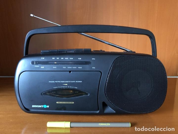 RADIO CASSETTE BRIGMTON BRC 19, FUNCIONANDO - VER VÍDEO (Radios, Gramófonos, Grabadoras y Otros - Transistores, Pick-ups y Otros)