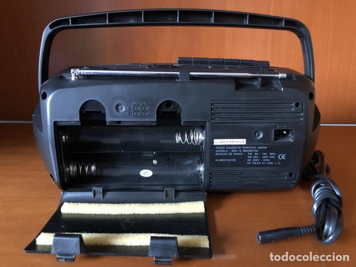 Radios antiguas: Radio Cassette Brigmton BRC 19, funcionando - ver vídeo - Foto 7 - 157774229