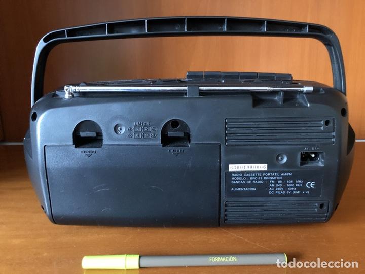 Radios antiguas: Radio Cassette Brigmton BRC 19, funcionando - ver vídeo - Foto 8 - 157774229