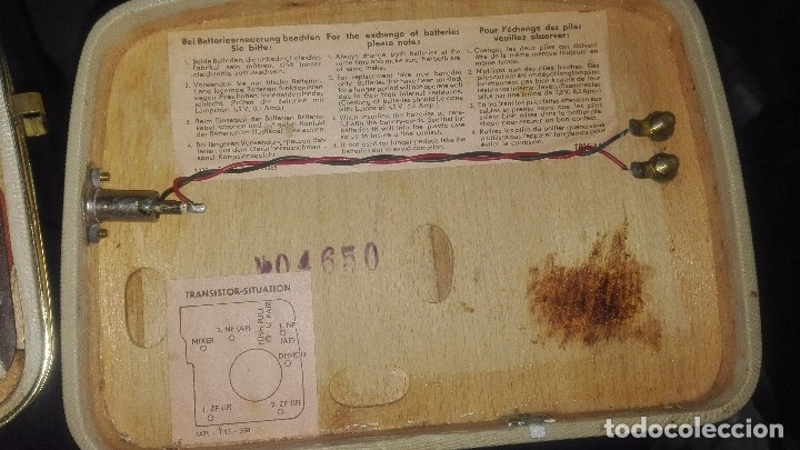Radios antiguas: Radio alemana ingelen TRV-110.año 1958 - Foto 4 - 144635302