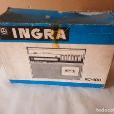 Radios antiguas: RADIO CASETTE INGRA RC 400. Lote 158796614