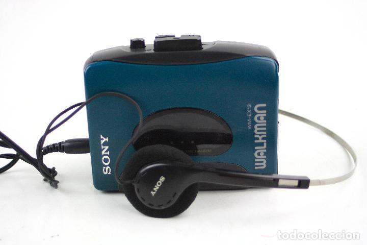 WALKMAN WM-EX 12, SONY, CON CASCOS. 11,5X9,5CM (Radios, Gramófonos, Grabadoras y Otros - Transistores, Pick-ups y Otros)