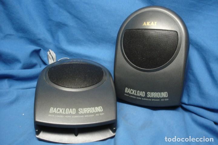 ALTAVOCES AKAI BACKLOAD SURROUND MDLO. AE-S91 - MADE IN JAPAN (Radios, Gramófonos, Grabadoras y Otros - Transistores, Pick-ups y Otros)