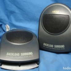 Radios antiguas: ALTAVOCES AKAI BACKLOAD SURROUND MDLO. AE-S91 - MADE IN JAPAN. Lote 159632122