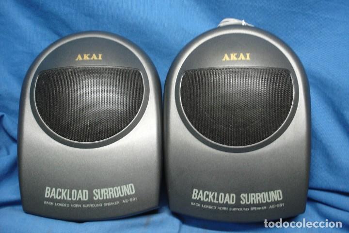 Radios antiguas: ALTAVOCES AKAI BACKLOAD SURROUND MDLO. AE-S91 - MADE IN JAPAN - Foto 3 - 159632122