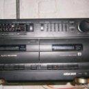 Radios antiguas: RADIO CASSETE MARCA SONY DOBLE PLATINA ECUALIZADOR ALTAVOCES EXTRAIBLES FUNCIONANDO. Lote 160284266