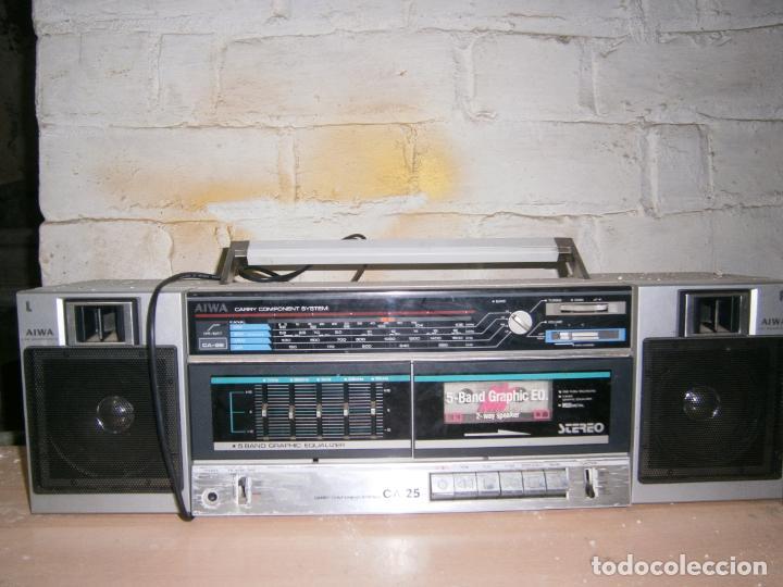 RADIO CASSETE MARCA AIWA PLATINA ECUALIZADOR ALTAVOCES EXTRAIBLES FUNCIONANDO (Radios, Gramófonos, Grabadoras y Otros - Transistores, Pick-ups y Otros)