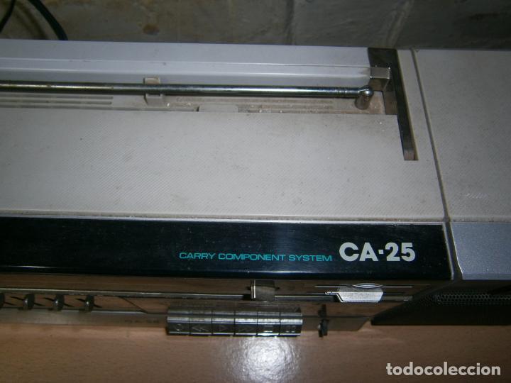 Radios antiguas: RADIO CASSETE MARCA AIWA PLATINA ECUALIZADOR ALTAVOCES EXTRAIBLES FUNCIONANDO - Foto 3 - 160285554