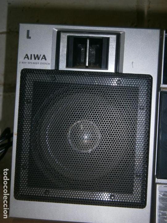 Radios antiguas: RADIO CASSETE MARCA AIWA PLATINA ECUALIZADOR ALTAVOCES EXTRAIBLES FUNCIONANDO - Foto 4 - 160285554