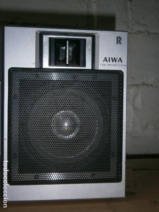 Radios antiguas: RADIO CASSETE MARCA AIWA PLATINA ECUALIZADOR ALTAVOCES EXTRAIBLES FUNCIONANDO - Foto 5 - 160285554