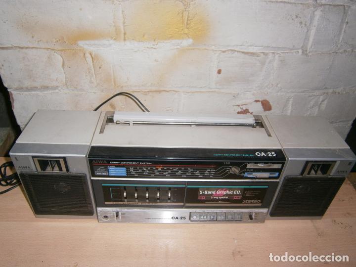 Radios antiguas: RADIO CASSETE MARCA AIWA PLATINA ECUALIZADOR ALTAVOCES EXTRAIBLES FUNCIONANDO - Foto 6 - 160285554
