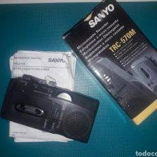 Radios antiguas: GRABADORA SANYO TRC- 570M EN SU CAJA ORIGINAL.FUNCIONA PERFECTAMENTE.SIN CINTA.. Lote 160524316