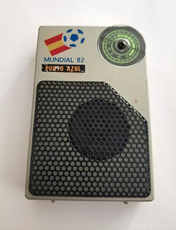 RADIO MUNDIAL ESPAÑA 82 PUNTO AZUL FUNCIONANDO (Radios, Gramófonos, Grabadoras y Otros - Transistores, Pick-ups y Otros)