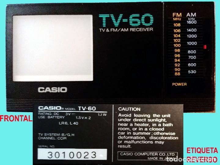 MINI TV RADIO, PORTATIL CON PILAS MARCA CASIO, DIAL AM,FM Y PANTALLA.12 X 6,5 X 3 CM. SEMINUEVO. (Radios, Gramófonos, Grabadoras y Otros - Transistores, Pick-ups y Otros)
