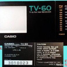Radios antiguas: MINI TV RADIO, PORTATIL CON PILAS MARCA CASIO, DIAL AM,FM Y PANTALLA.12 X 6,5 X 3 CM. SEMINUEVO.. Lote 161107250
