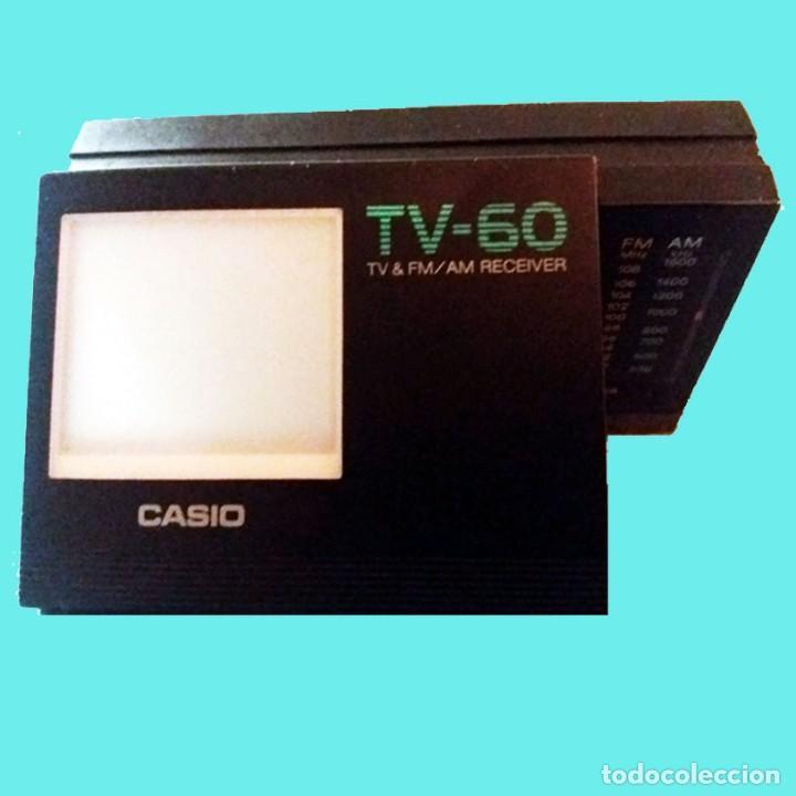 Radios antiguas: MINI TV RADIO, PORTATIL CON PILAS MARCA CASIO, DIAL AM,FM y PANTALLA.12 X 6,5 X 3 cm. SEMINUEVO. - Foto 3 - 161107250