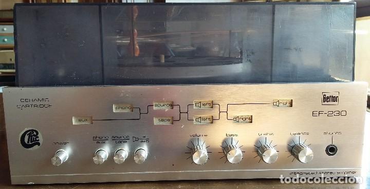 TOCADISCOS BETTOR DUAL EF230 (Radios, Gramófonos, Grabadoras y Otros - Transistores, Pick-ups y Otros)