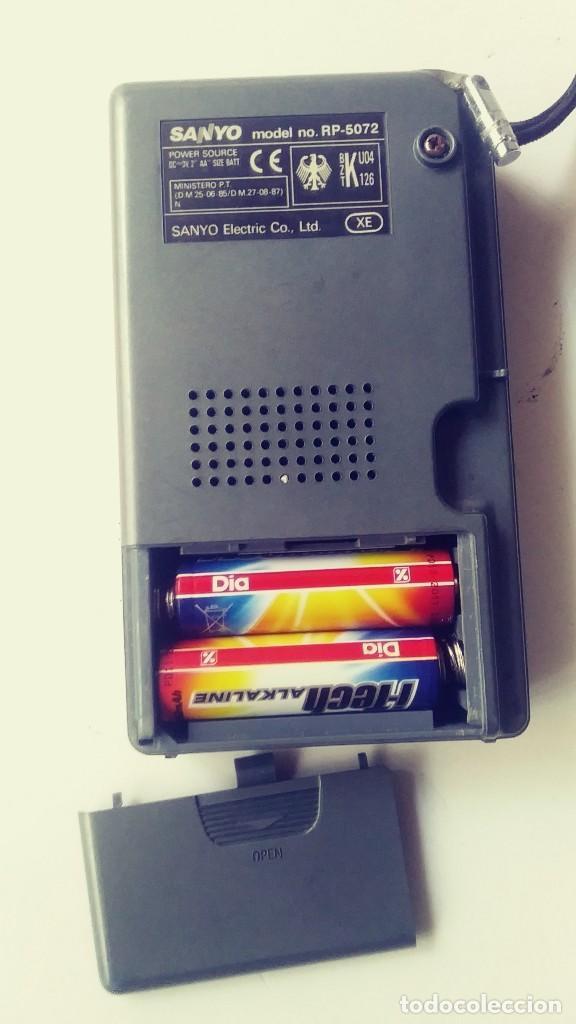 Radios antiguas: Radio transistor Sanyo RP 5072 - Foto 2 - 162321114