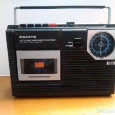 Radios antiguas: RADIO CASSETTE SANYO. Lote 163911342