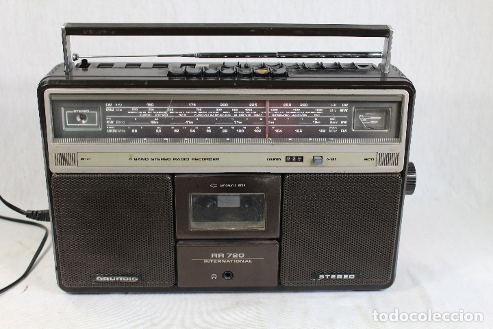 Radios antiguas: Grundig RR720 internacional Estéreo Radio/Cassette - Foto 6 - 164022698