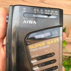 Radios antiguas: AIWA HS-J45 SUPER BASS STEREO RECORDING RADIO WALKMAN. Lote 164764330