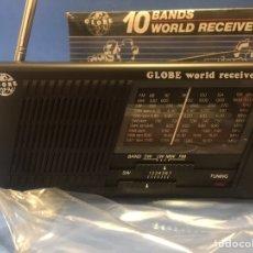 Radios antiguas: TRANSISTOR GLOBE. A ESTRENAR, DE TIENDA. FUNCIONA PERFECTAMENTE. AÑOS 80.. Lote 165360856