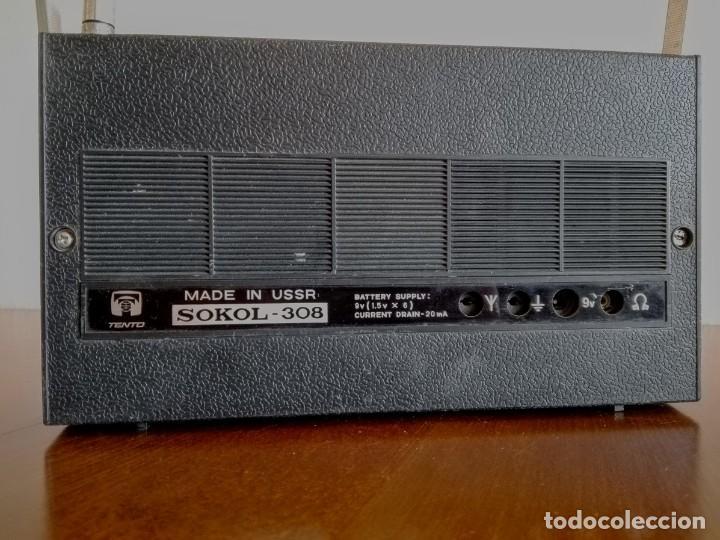 Radios antiguas: Radio ruso de transistores SOKOL 308, receptor de radio URSS, Vintage - Foto 3 - 165985826